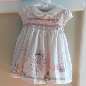  Smocked Pink Peter Pan Collar Dress 6-9 Months